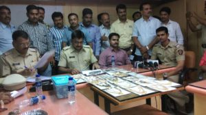 Dcp Pankaj Dahane & Duttawadi police station Sr pi Sridhar Jadhav with the team & recovered property.